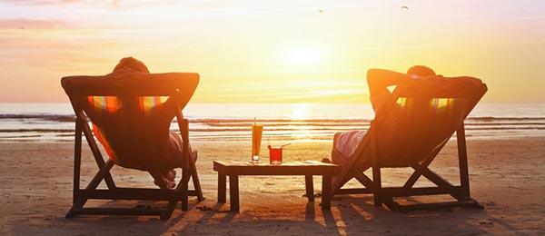 Luxus-Urlaub am Strand